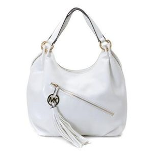 Michael Kors Chain Large White Hobo